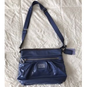 Coach Blue Leather Adjustable Strap Purse